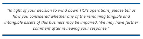 PayPal: SEC Requests Clarification about TIO Intangibles