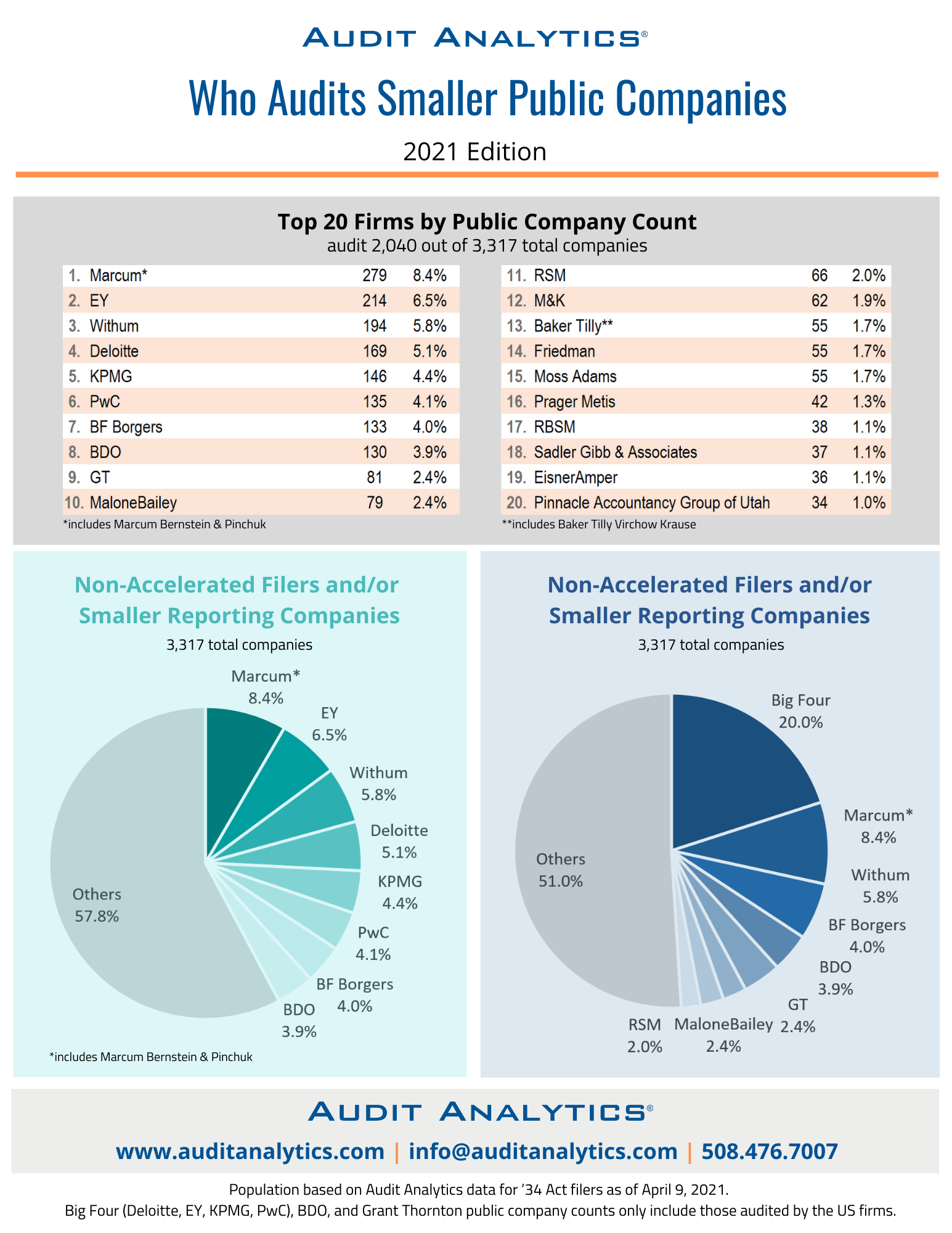 Who Audits Smaller Public  Companies